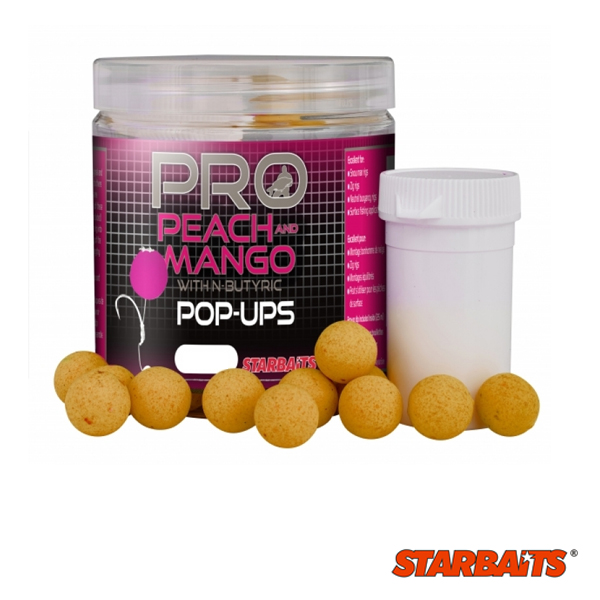 Starbaits Probiotic Peach and Mango Pop Up 10mm 60g