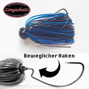 Longasbaits Texas Jig 3/8 Black Blue